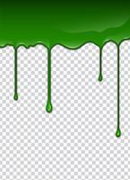 Líquido verde, salpicos e manchas. Ilustração do vetor de lodo.