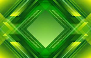 diamante geométrico abstrato gradiente verde amarelo vetor