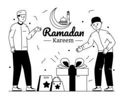 presentes e presentes do ramadã vetor