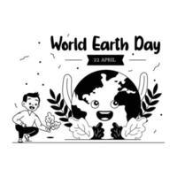 dia mundial da terra vetor