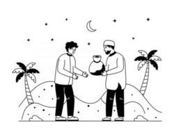 dar esmolas para o ramadã vetor