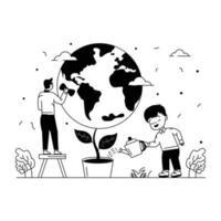 feliz Dia da Terra vetor