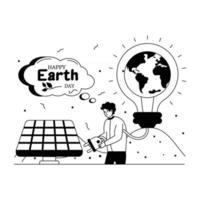 renovação do dia da terra vetor