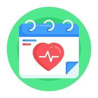 calendário médico e lembrete vetor