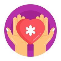 cuidado e proteção do coração vetor