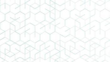 linhas geométricas abstratas em fundo branco. conceito de tecnologia e conexão. vetor