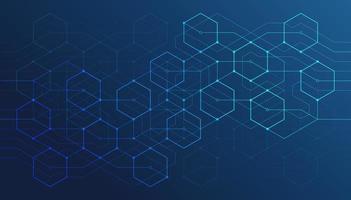 linhas geométricas abstratas. conexão e rede social. conceito com linhas e pontos. design minimalista. vetor