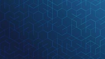 linhas geométricas abstratas sobre fundo azul. conceito de tecnologia e conexão. vetor