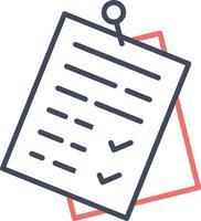 ícone de clipe de documentos vetor