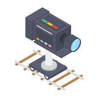 conceitos de câmera de filme vetor