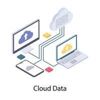 upload de dados na nuvem vetor
