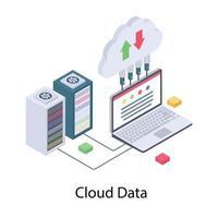 conceitos de dados em nuvem vetor