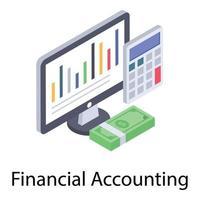 conceitos de contabilidade financeira vetor