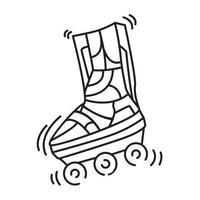 playground crianças patins, brincar, crianças, jardim de infância. conjunto de ícones desenhados à mão, contorno preto, ícone do doodle, ícone do vetor
