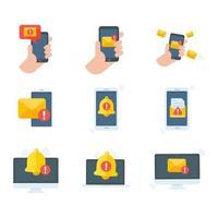 envelope amarelo. o conceito de comunicação e notificação por e-mail via canais online. vetor