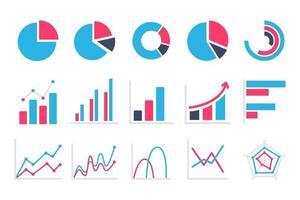 gráfico de linha comparando o desempenho dos negócios. conceito de relatório de ganhos da empresa vetor