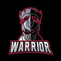 guerreiro espartano cavaleiro romano, mascote, modelo de design de logotipo para jogos vetor