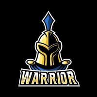 modelo de logotipo do guerreiro espartano cavaleiro romano esporte gaming esport vetor