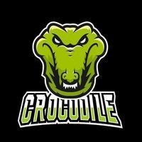 modelo de logotipo de mascote de esporte ou esporte de crocodilo, para sua equipe vetor