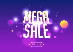 design de modelo de banner de mega venda, oferta especial de grande venda. vetor