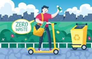 conscientização sobre plásticos e resíduos no meio ambiente vetor