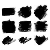 conjunto de texturas de pincel vetor