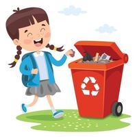 conceito de reciclagem e limpeza vetor