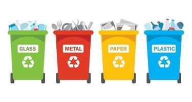 conceito de limpeza e reciclagem vetor