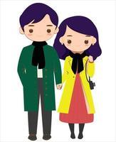 casal apaixonado inverno vetor