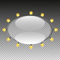 moldura oval de vidro vetor