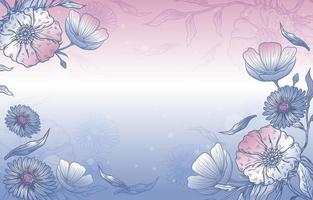 flor desabrochando desenhada à mão vetor