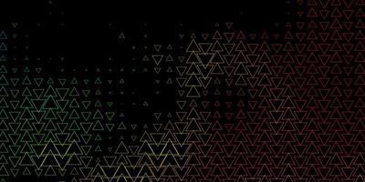 textura de vetor multicolorido escuro com linhas, triângulos. ilustração gradiente moderna com triângulos coloridos. padrão para comerciais.