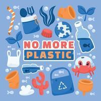 não há mais adesivos de plástico vetor