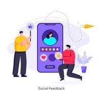 feedback social vetor