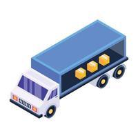 entrega de caminhão de contêineres vetor