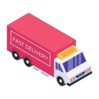 caminhão de entrega de carga vetor