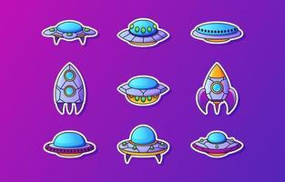 ícone de nave espacial ufo vetor
