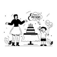 presente para a mãe vetor