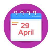 lembrete de evento e planejador vetor