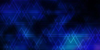fundo de triângulos azuis brilhantes vetor