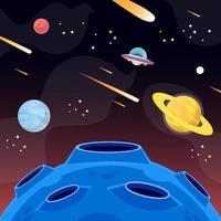 fundo ufo do espaço sideral vetor