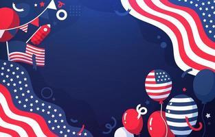 fundo do dia da independência americana vetor