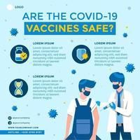 infográfico de segurança de 19 vacinas covid vetor