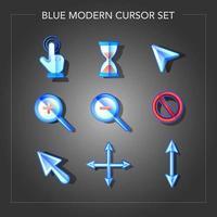 cursor azul moderno brilhante de negócios vetor