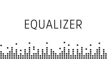 onda digital de som, borda preta simples. onda de rádio de música. design gráfico de voz digital, ilustração vetorial. vetor
