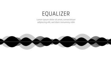 espectro de áudio digital. ilustração do equalizador futurista. batida da música. ícone de forma de onda de vibrações de alta frequência. vetor