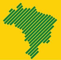 simplicidade geometria abstrata moderna mapa do brasil. ilustração vetorial. vetor