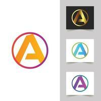 um design abstrato de logotipo de carta vetor