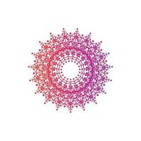 mandala decorativa e ornamental desenho à mão desenho colorido abstrato vetor
