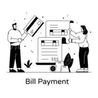 pagamento de contas e fatura vetor